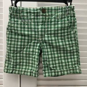Green checkered shorts - size 3T